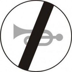 Znak B-30 Koniec Zakazu Używania Sygnałów Dźwiękowych
