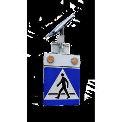 D-6 aktywny z lampami LED zasilany baterią słoneczną Komplet