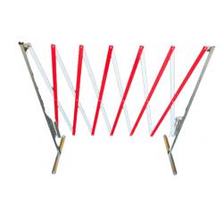 Barierka harmonijkowa biało-czerwona