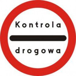 Znak B-32e Stój Kontrola Drogowa