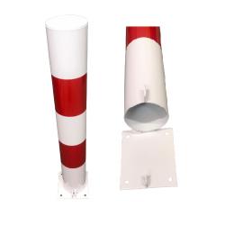 Słupek U12c biało-czerwony na podstawie Składany