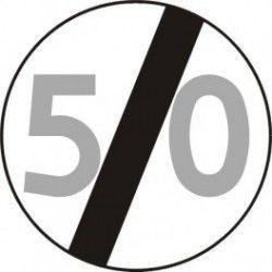 Znak B-34 Koniec Ograniczenia Prędkości