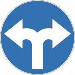 Znak C-8 Nakaz Jazdy w Prawo lub w Lewo