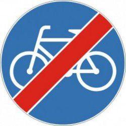 Znak C-13a Koniec Drogi dla Rowerów