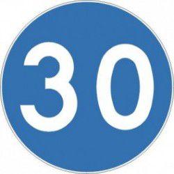 Znak C-14 Prędkość Minimalna