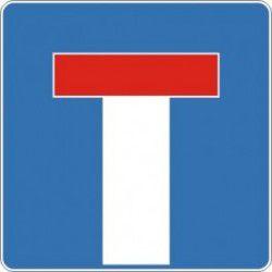 Znak D-4a Droga bez Przejazdu