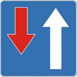 Znak D-5 Pierwszeństwo na Zwężonym Odcinku Jezdni