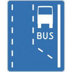 Znak D-11 Początek Pasa Ruchu dla Autobusów