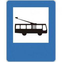 Znak D-16 Przystanek Trolejbusowy