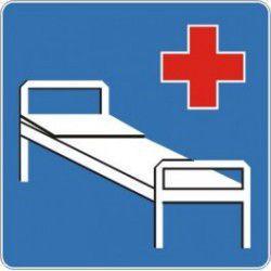 Znak D-21 Szpital