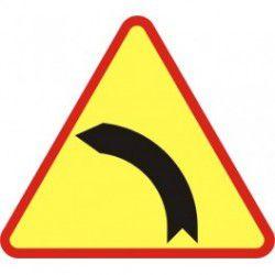 A-2 Znak Niebezpieczny zakręt w lewo
