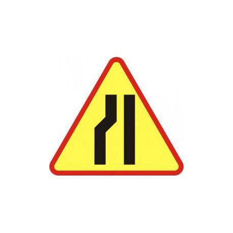 A12c Znak Zwężenie Jezdni Lewostronne